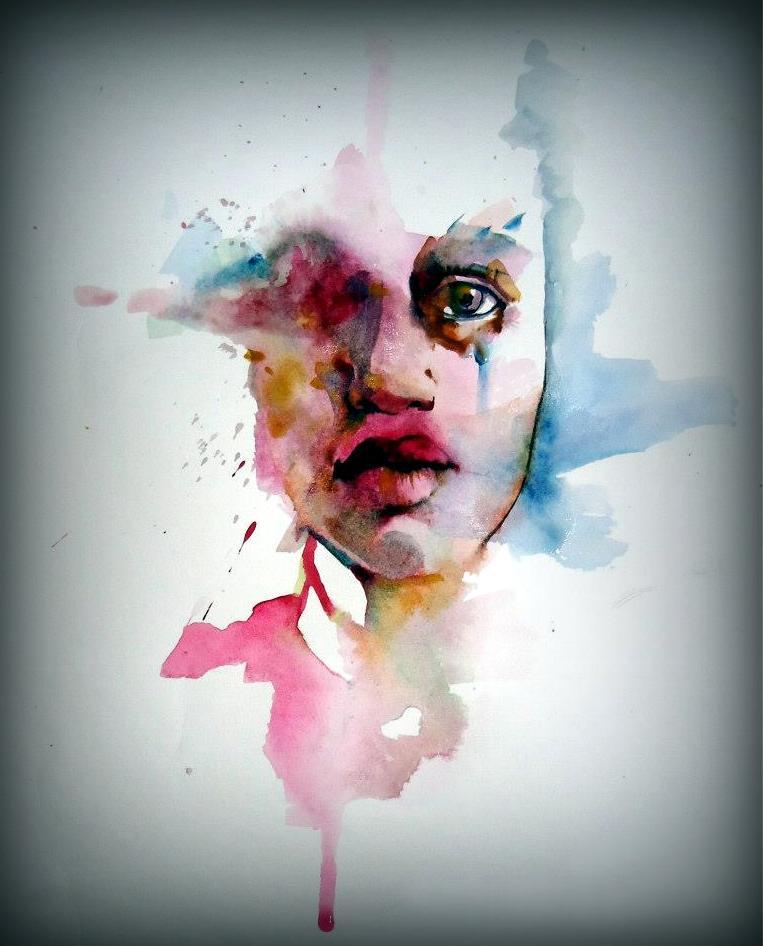 woman mujer acuarela watercolor paper papel