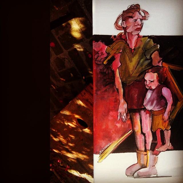 inocencia childhood child kid mother acrylic acrílico canvas tela