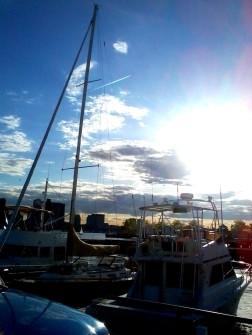 massachusetts boston USA unitedstates unitedstatesofamerica eastboston harbor shipyard marina sunset beautiful sol sun sunny