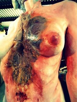 painting pintura chest pecho torso priming imprimacion lifesize woman sculpture escultura mujer tamañonatural resin resinpolyester resinapolyester