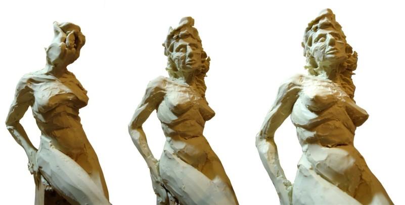 Detalles - Escultura en proceso Mujer