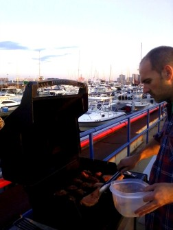 Ethan preparing us a barbarcue.07
