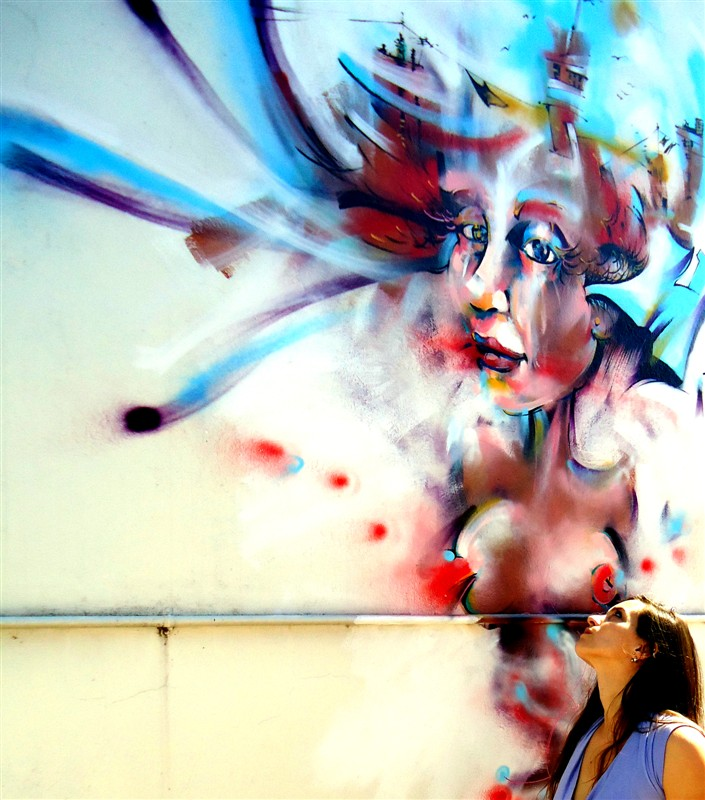streetart art street mural muralpainting painting spray spraypainting woman mujer