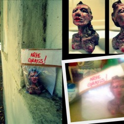 freeartfriday freeart thestreetisourgallery FAF project proyecto little sculptures women heads cabeza mujeres city ciudad freeart
