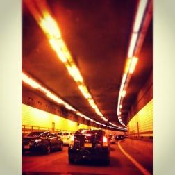 massachusetts tunnel traffic trafico tunel boston lights luces