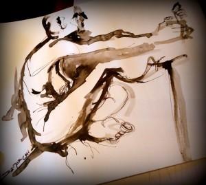 draw drawing dibujo art arte sketch ink tinta papel paper model modelo modelovivo