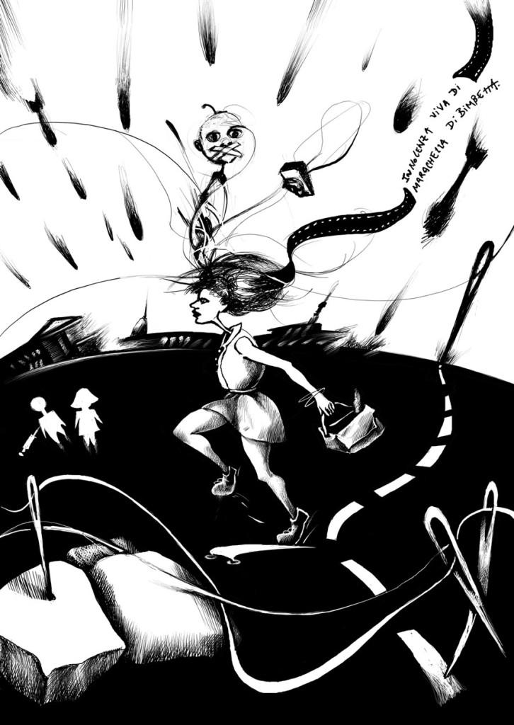 book libro illustration ilustracion dibujo draw italian writer antonionazzaro odorea olora torino turin caracas italy italia venezuela digital balckandwhite blancoynegro art arte