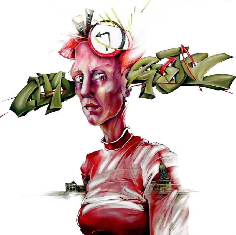 graff graffitti woman mujer portrait retrato paint painting pintura oil oleo art arte