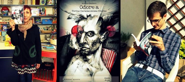 book bookcover portada libro italian writer antonionazzaro odorea olora torino turin caracas italy italia venezuela