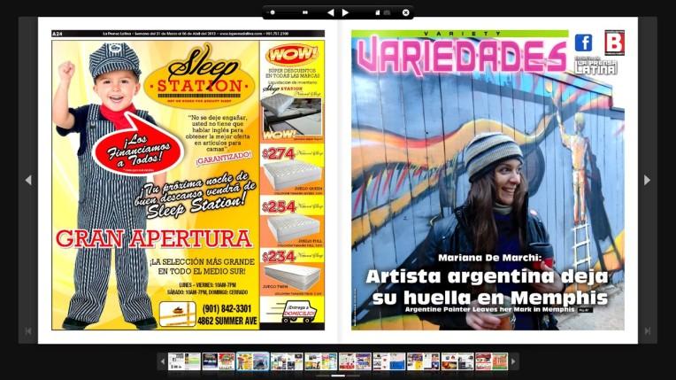cover portada media massmedia zine latino magazine gallery artgallery memphis USA south sur galleryfiftysix mural muralpainting
