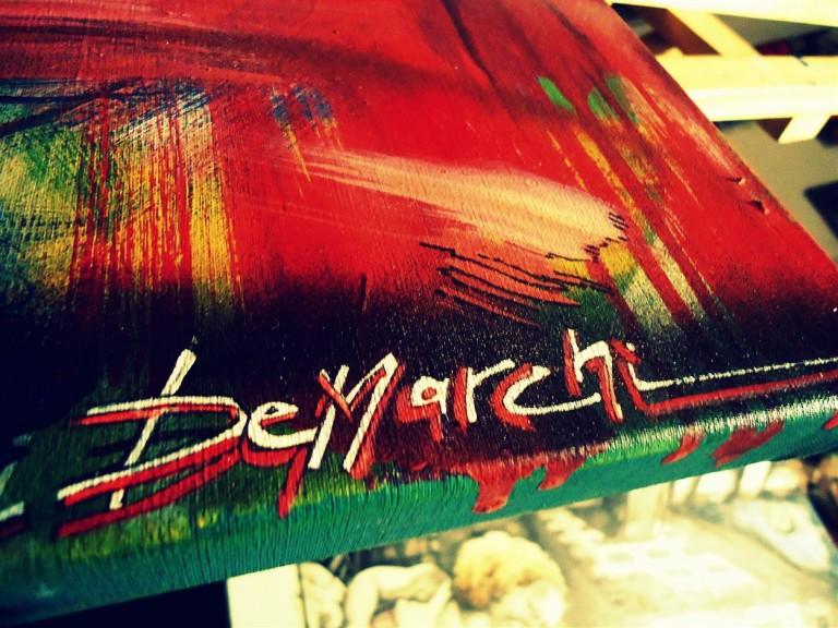 signature firma acrylic acrilico canvas tela art arte artist artista