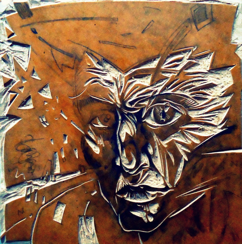 woodcut xilografia madera mdf print estampa impresion estampado engraving printmaking inprogress progression