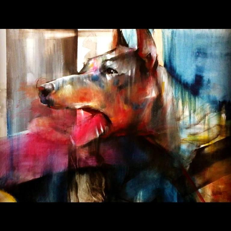 38 - Painting detail Perro Furioso