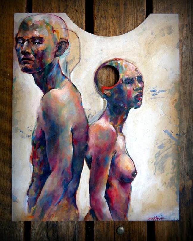 7 -Separatidad - Newer Paintings - Oil on regained paintpalette